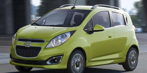 The Chevrolet Spark competes against the Fiat 500 and Scion iQ.