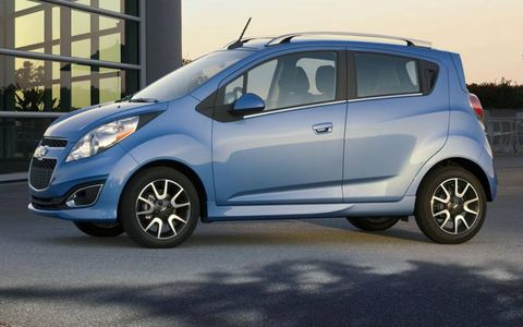 A side view of the 2013 Chevrolet Spark.