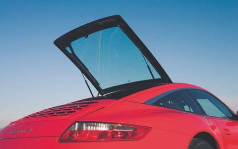 Forgoing the traditional rear-wheel drive layout of earlier 911 Targas, the sixth-generation model runs all-wheel-drive on all models. Targa 4 is powered by a 3.6-liter 325-hp, 273-lb-ft flat six-cylinder engine; Targa 4S gets the 3.8-liter, 355-hp, 295-lb-ft flat six. Porsche says Targa 4 hits 0-60 mph in 5.1-seconds, Targa 4S in 4.7 seconds. A six-speed manual gearbox is standard, with a five-speed Tiptronic automatic optional. A double-clutch manual-automatic gearbox will be a likely addition to the options list in the not-too-distant-future.