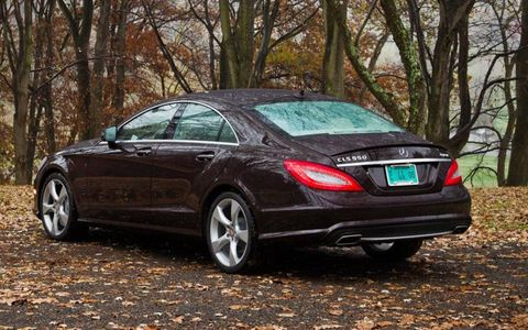 "We liked the looks of the CLS550, which Mercedes technically calls a ""coupe"""