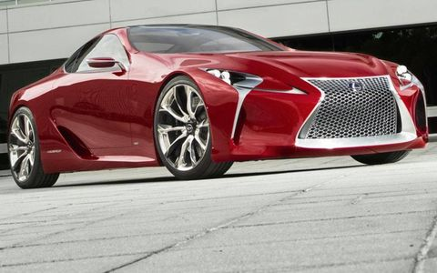 The Lexus LF-LC coupe concept was introduced at the Detroit auto show in January 2012.