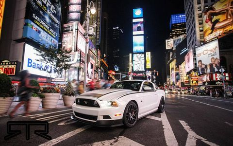 The 2013 Ford Mustang RTR graces New York City's Times Square.