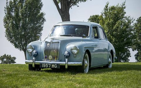 The 1957 MG Magnette was a popular car in England and overseas.
