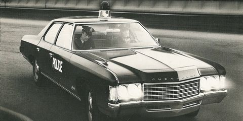 The 1971 full-sized Chevy made an excellent police car.
