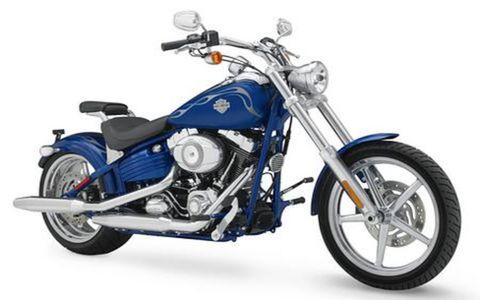 "Harley-Davidson's Rocker C looks like a custom-built bike, or ""chopper."" Price: $19,495"