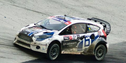 Toomas Heikkinen is on his way to his record third consecutive GRC event win on Saturday at Bristol Motor Speedway.