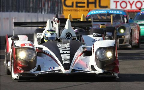 Klaus Graf and Lucas Luhr combined to give Muscle Milk Racing the win at Mosport on Sunday.