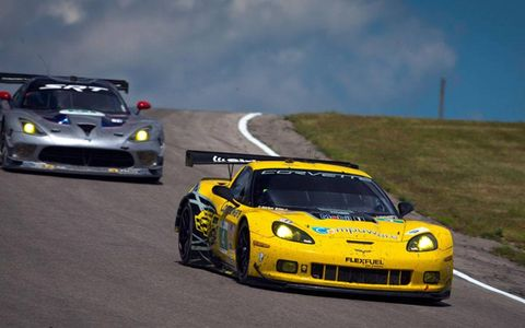 Tommy Milner and Oliver Gavin teamed to give Covette Racing the GT win at Mosport on Sunday.