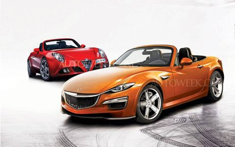 Expect the next-gen Mazda MX-5 to feature Mazda's Kodo's design theme and the Alfa to feature traditional yet modern design cues