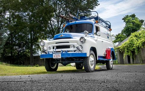 This 1957 International truck has just 9,000 miles on it.