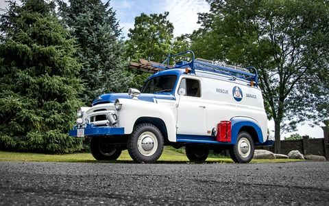 The truck spent its last working days at a local fire department before being sold off at auction.