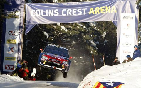 Sebastien Loeb at Rally Sweden