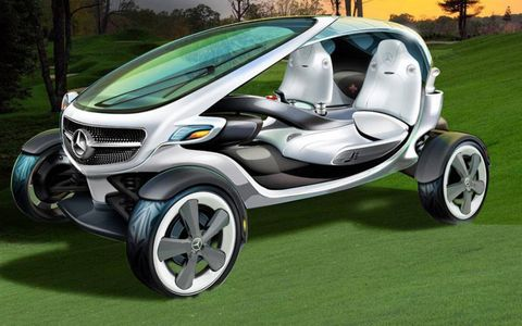 It was created at Mercedes-Benz's advanced design studio in California using ideas submitted by golf fans