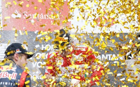 To the victor goes the confetti at the German Grand Prix on Sunday.