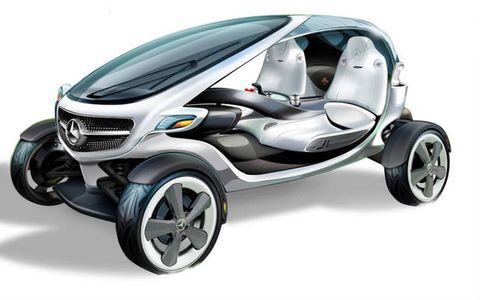 The golf cart is a plug-in electric vehicles, with the motors located in the wheels themselves