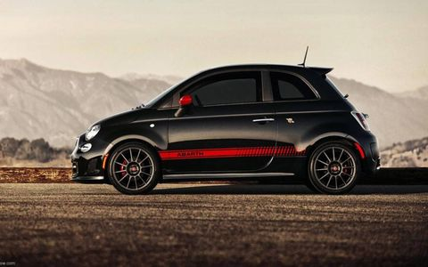 With the graphics, badges and body kit, the Abarth stands out from the normal 500