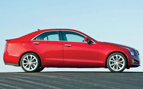 A side view of the 2013 Cadillac ATS.