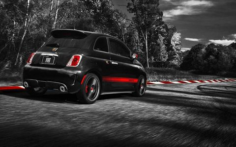 The most natural competitor to the Abarth is the Mini Cooper S hardtop and even the GTI