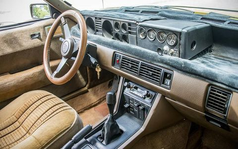 The interior is spacious and comfortable, but oh so seventies.