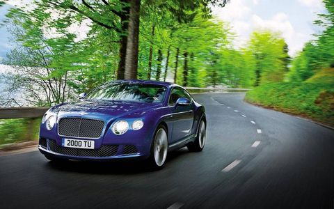 The 2013 Bentley Continental GT Speed is the fastest production Bentley ever made.