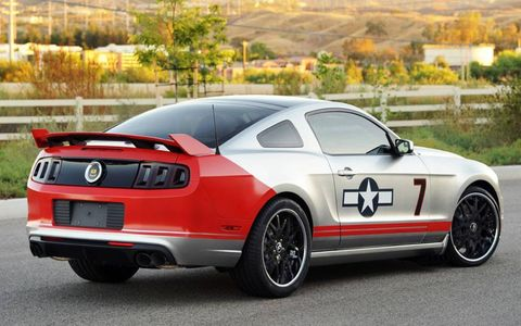 The Red Tails Mustang is based on the 2013 Ford Mustang GT.