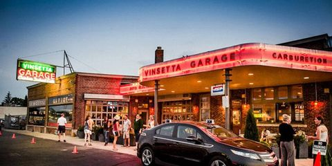 Enjoy delicacies by chef Aaron Cozadd right on Woodward Avenue at Vinsetta Garage.