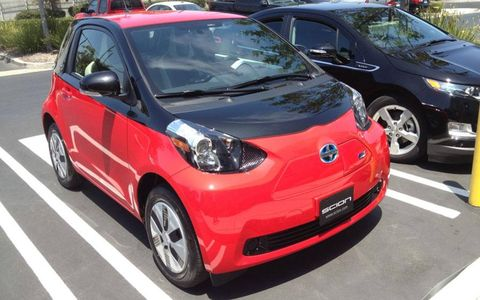 This Scion iQ electric vehicle was spotted in Torrance, Calif.