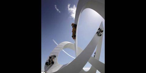 2012 Goodwood Festival of Speed: Lotus Statue.
