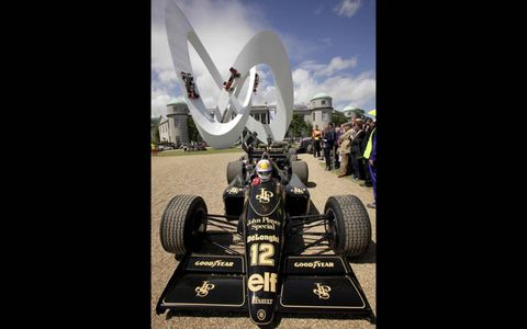 2012 Goodwood Festival of Speed: Tom Kristensen, Lotus 92T.