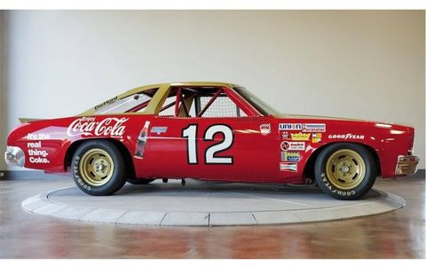 This 1973 Bobby Allison Chevy Chevelle has a 427 V8.