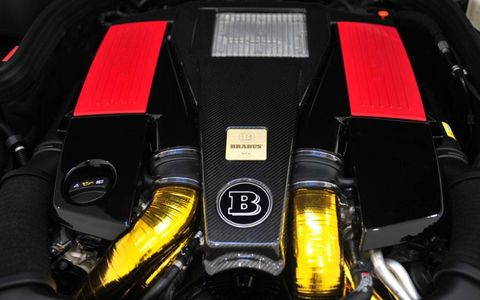 The gold leaf denotes the Brabus B63S.