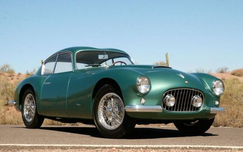 Front view of the 1953 Zagato Fiat 8V Elaborata.