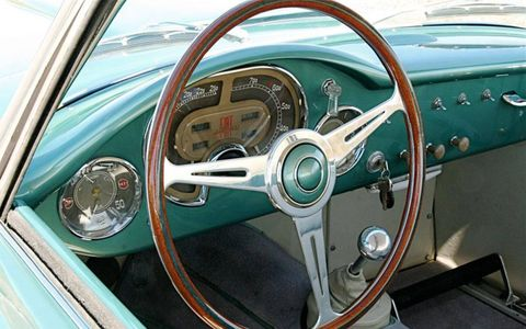 Interior shot of the 1953 Zagato Fiat 8V Elaborata to be auctioned at Gooding Pebble Beach.