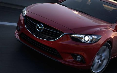 The redesigned 2014 Mazda6 sedan will be revealed in late August.