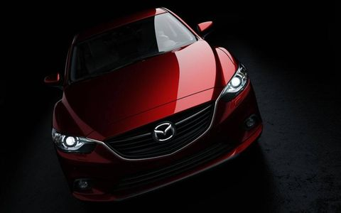 The grille of the redesigned 2014 Mazda6 sedan.