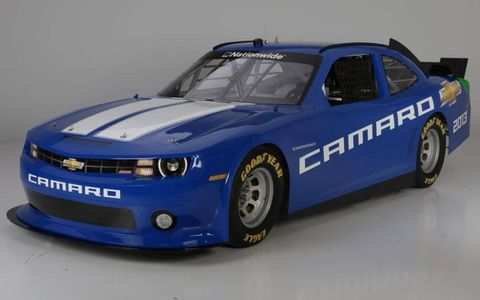 A look at the left-front of the Camaro that will be racing in the NASCAR Nationwide series in 2013.