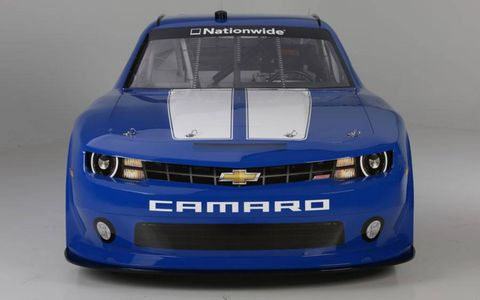 A look at the nose of the Camaro that will be racing in the NASCAR Nationwide series in 2013.