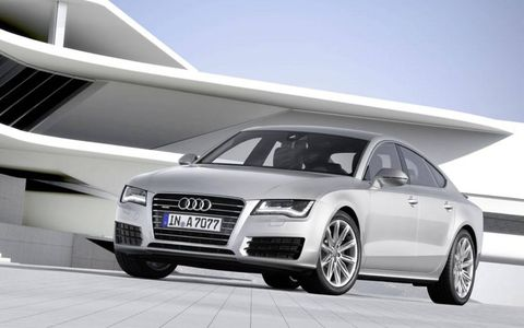 This is Audi's new A7--the sleek, upmarket liftback previewed by the Sportback concept at the 2009 Detroit auto show.
