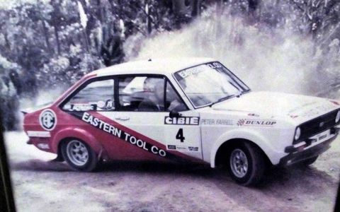 1977 Ford Escort Mark 2 RS 2000 in the 1982 Cibie Lights National Rally