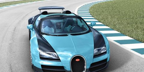 """The full name of the car is the """"Bugatti Veyron 16.4 Grand Sport Vitesse Legend Jean-Pierre Wimille"""""""