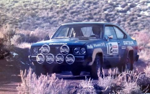 1980 Datsun 510 Coupe Ex Rod Millen/ Jon Woodner in the 1984 Carson City International with Tony Sircombe co- driving.