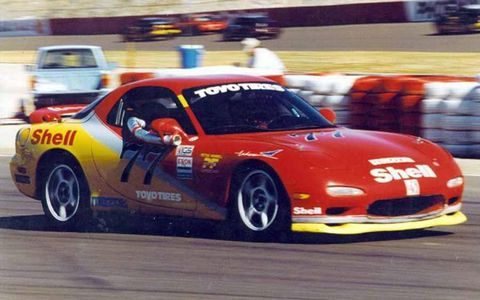 1995 Mazda RX7 in the IMSA Firestone Firehawk Series.