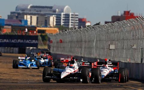 23-25 July, 2010, Edmonton, Alberta, Canada Will Power leads Helio Castroneves, Scott Dixon and Dario Franchitti.