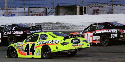 Frank Kimmel makes his way  through the pack on his way to his 75th career ARCA Series win.