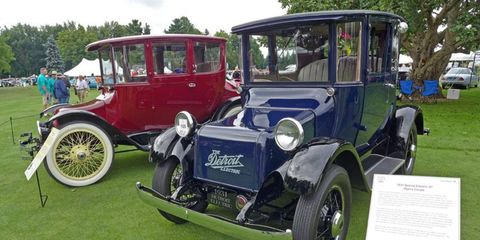Electric cars were a featured class this year, with examples from Detroit Electric to Tesla on display.