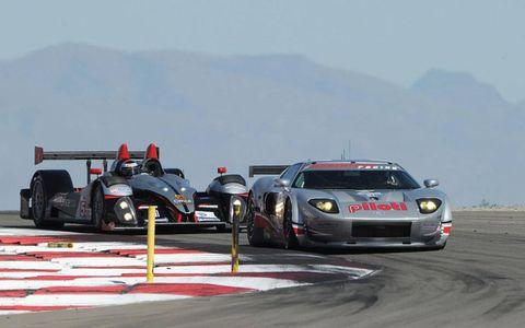 9-11 July, 2010, Tooele, Utah, USA #40 Robertson Racing's Ford GT and #55 Oreca.