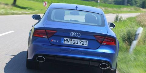 The RS7 applies the full hot-rod treatment to Audi's A7 Sportback