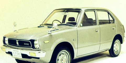 The first Civic didn't look like much, but it was the best cheap car in the world in 1973.