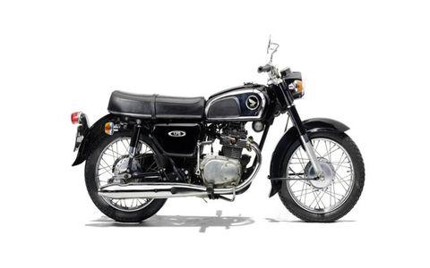 A 1973 Honda CD175.