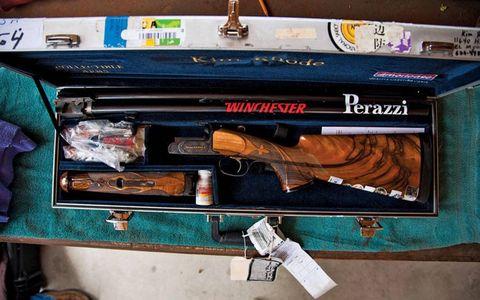 Kim Rhode's Olympic shooting equipment.